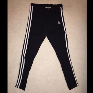 Adidas 3 strip leggings.